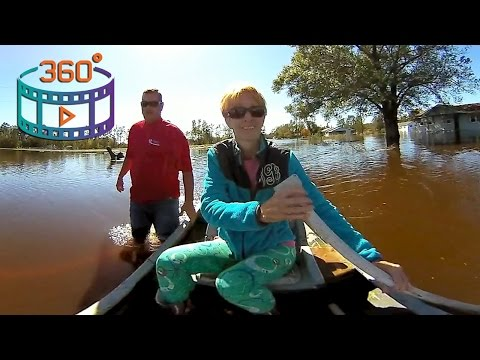 After The Flood; A Day In Lumberton, NC After Hurricane Matthew | 360 Video