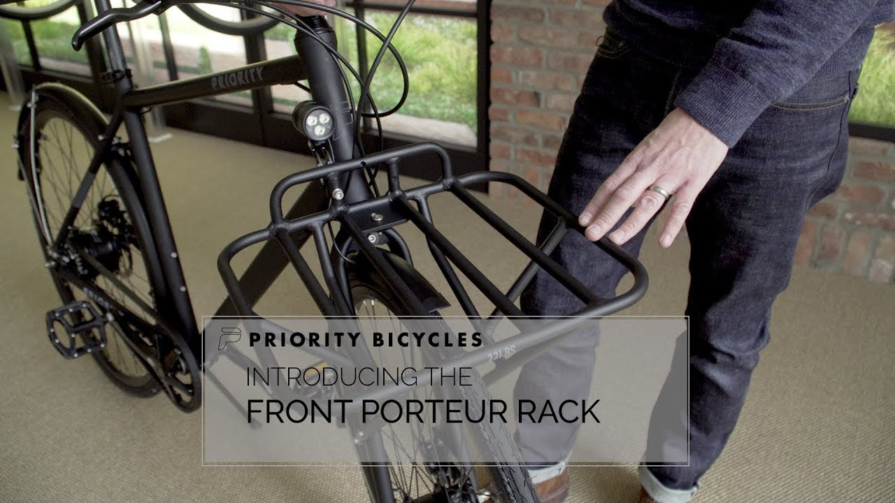8027a233577 Introducing the Priority Front Porteur Rack - YouTube