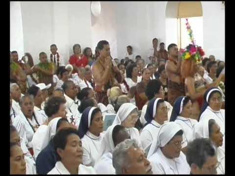 Cardinal Pio's Funeral Mass-  Samoan Catholic Choir Taulaga (Offertory)