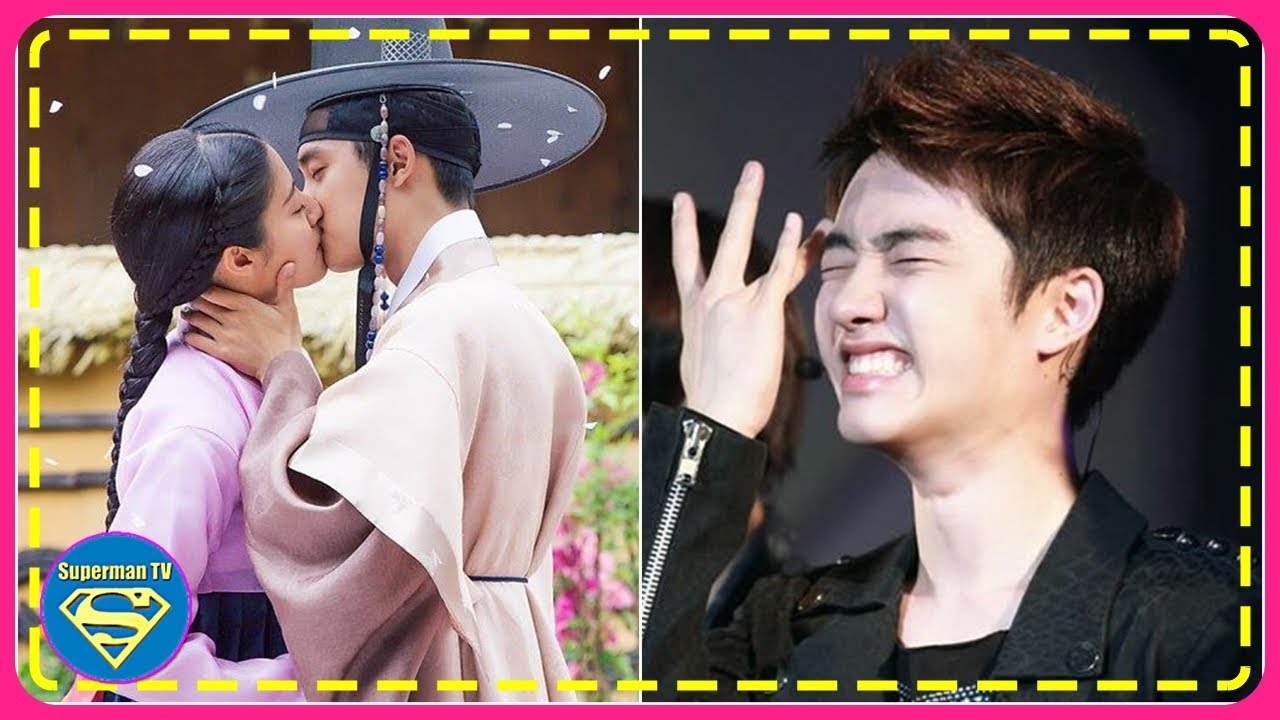 EXO members share their reaction to D O 's kiss scene in '100 Days My  Prince'