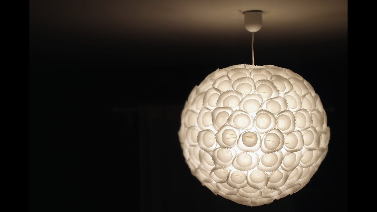 Tutoriel customiser une lampe en papier avec catherine for Suspension luminaire ronde