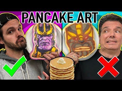 PANCAKE ART CHALLENGE!! Learn How To Make Avengers, Danny Phantom, Thanos, Mario DIY Pancake!