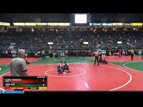 Max Ray (Mira) Vs Luke Vanadia (Bkv1) 2019 OAC Junior High State 146lb Semis