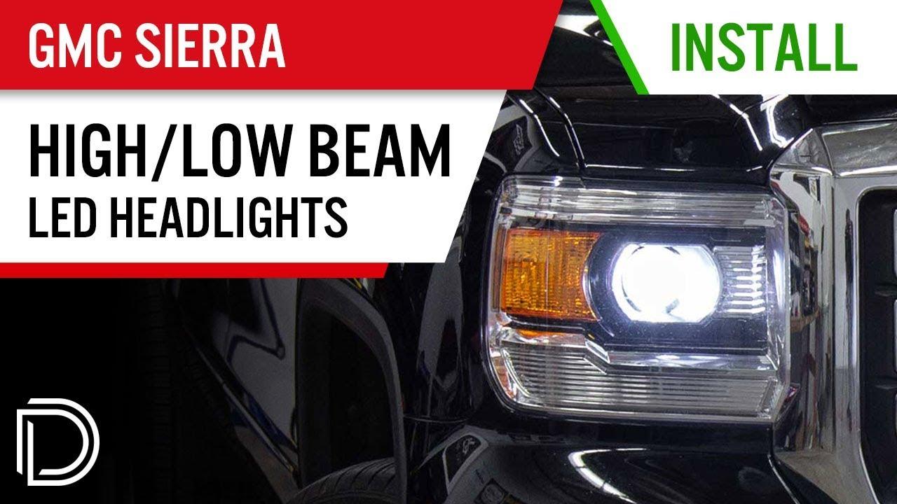 5202 Fog Light Bulbs for 2014 2015 GMC Sierra 1500 4x Combo 9012 LED Headlight