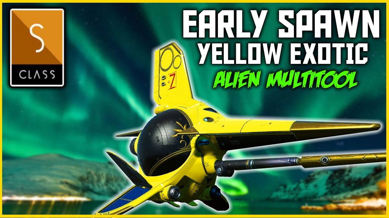 No Man's Sky - Yellow Royal Exotic Ship Location - Alien Multitool - Cross Play Update 2020