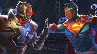 Injustice 2 - Darkseid Vs Superman - All Intro Dialogue/All Clash Quotes, Super Moves