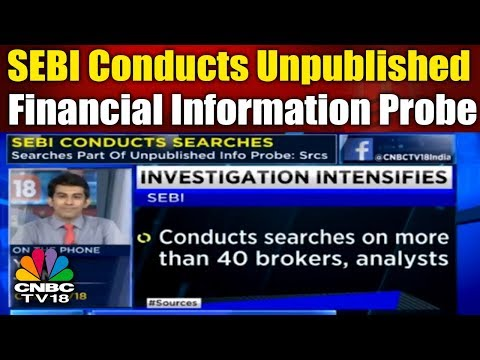 SEBI Conducts Unpublished Financial Information Probe   Business Saturday  CNBC TV18
