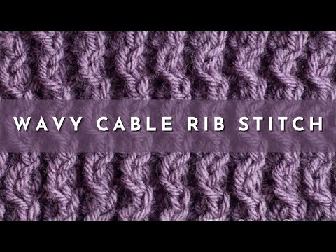 How To Knit The Wavy Cable Rib Stitch English Style Youtube