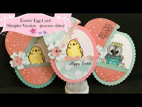 🐣 Easter Egg Card-Simpler Version [Process Video]