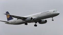 "Lufthansa Airbus A321-131 D-AIRB ""Baden-Baden"" Landing at Berlin Tegel Airport"