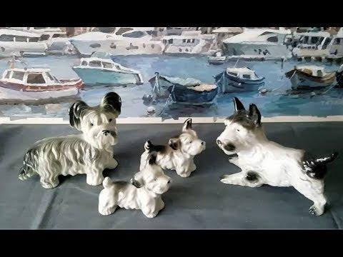 Коллекция с блошиного рынка - фарфоровые собачки.