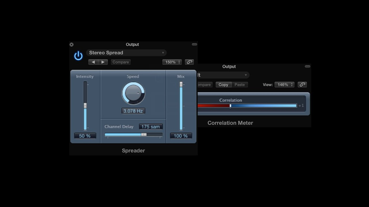 Stereo spread for wide mixes