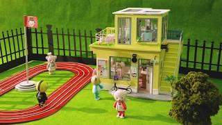 School Time DIY Teddy Dollhouse Miniature Wooden Doll House