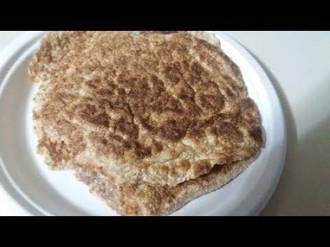 coconut flour psyllium husk flat breads /wraps - YouTube