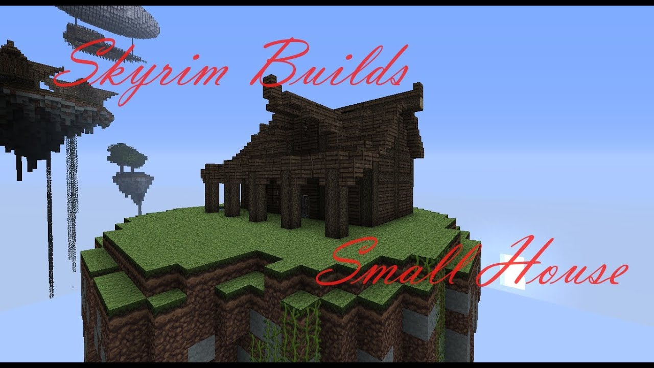 Minecraft building tutorials how to build a small skyrim for How to build my house