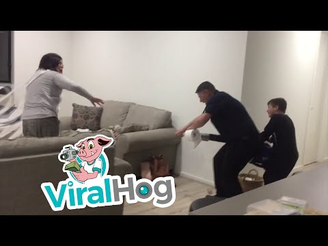 Josh Nagy - Kids Team Up with Dad for a Quality Toilet Paper Prank