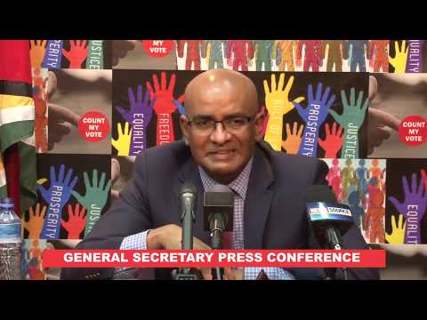 Press Conference by PPP General Secretary, Bharrat Jagdeo March 26th 2020