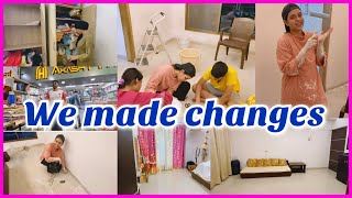 Living room makeover | room decor | renovation | we've made some changes | before and after
