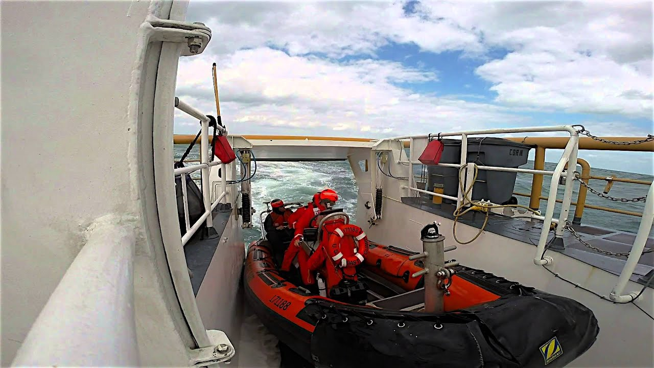 coast guard rapid response stern launch and recovery youtube