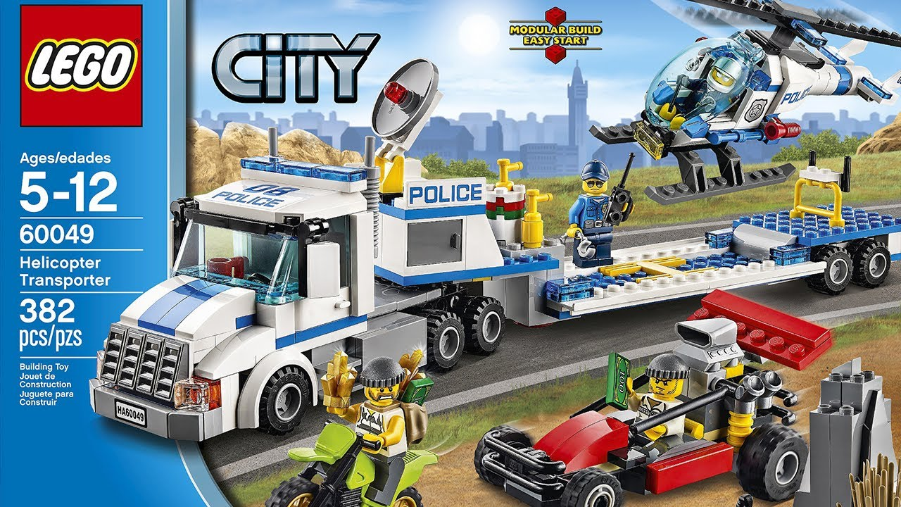 Lego City 60049 Helicopter Transporter 2014 Set Images