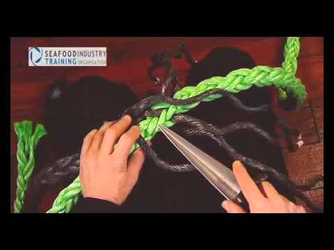 Multiplait rope eye splice
