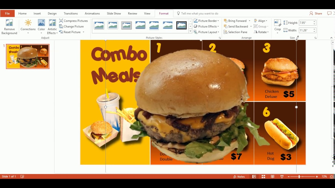 Use powerpoint templates to create a digital menu board maxwellsz