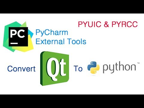 Convert Qt Designer ui file to Python file using Pycharm External Tools