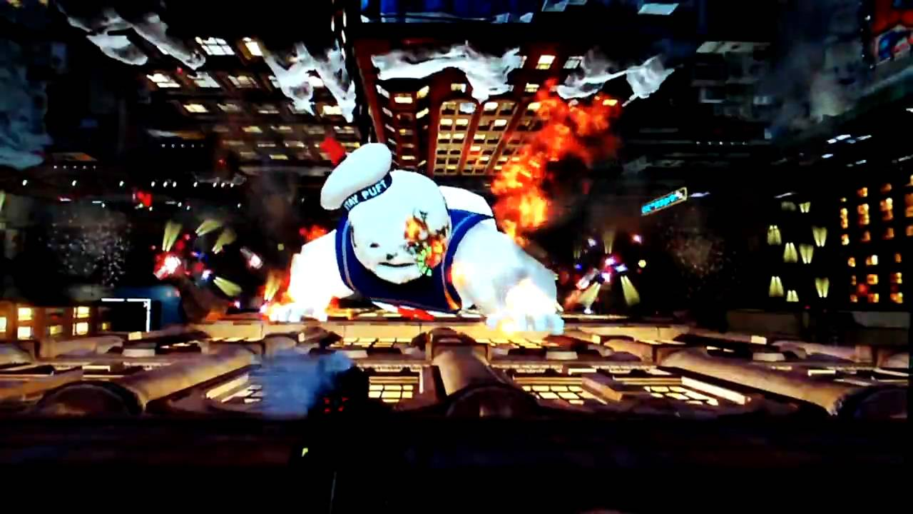 Ghostbusters Stay Puft Marshmellow Man Boss Fight Youtube