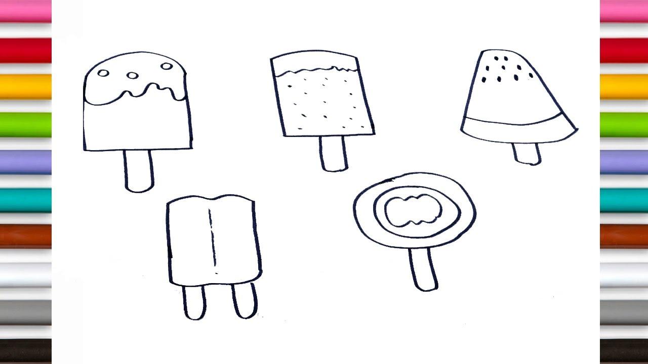 Lollipop Printable Coloring Pages