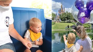 An Exciting Day At Disney's Magic Kingdom! | First Ride On The People Mover & First Mickey Balloon!