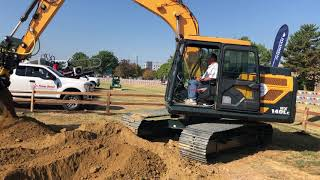 Video still for The All New Hyundai HX 140LC Equipped With Unique Engcon Attachment at ICUEE 2019