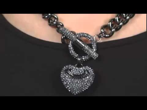 Juicy couture heavy metal pave heart toggle necklace sku juicy couture heavy metal pave heart toggle necklace sku 8049689 youtube aloadofball Gallery