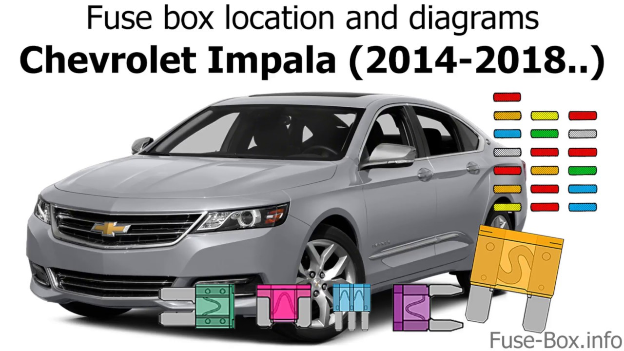 fuse box location and diagrams: chevrolet impala (2014-2018..) - youtube 2011 chevy impala fuse box diagram 2014 impala fuse box