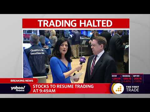 Trading halted after US stock market drops 7%, resumed at 9:49 am on Monday March 9, 2020