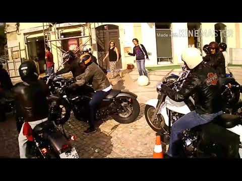 Ida para o barco com os Harley Riders