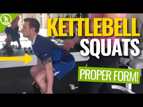 How To Do A Kettlebell Squat — [FORM GUIDE]