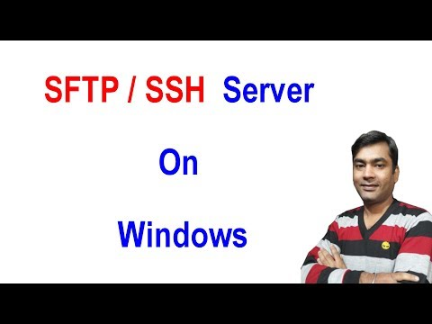 How To Install The Built-In Windows 10 OpenSSH Server - Secure FTP Server  (Hindi)