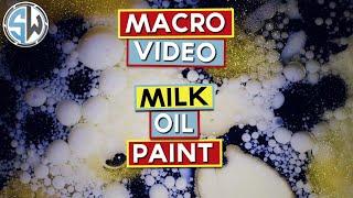 Macro Video with Milk, Oil & Paint!