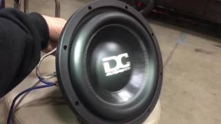 Woofer FLEX Friday! a 300 watt Sub on a 9,000 Watt amp (DC Audio) Slo-Mo Suspension Excursion
