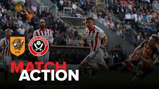 Hull City 0-3 Blades - match action
