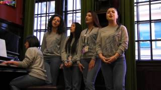 ESCKAZ in Stockholm: Armenia backing vocalists perform Kilikiya
