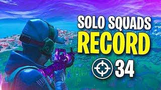 34 KILLS SOLO vs. SQUADS Personal Record (Fortnite)