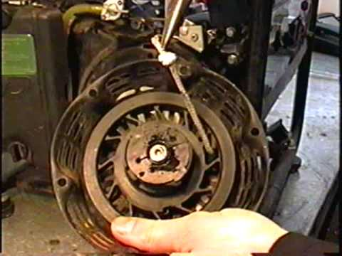 HOW TO REPLACE Generator STARTER ROPE & Motor OIL - YouTube