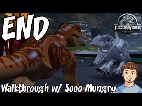 LEGO Jurassic World ENDING - Final Boss Indominus Rex Vs. T-Rex (Xbox One, PS4 Gameplay)