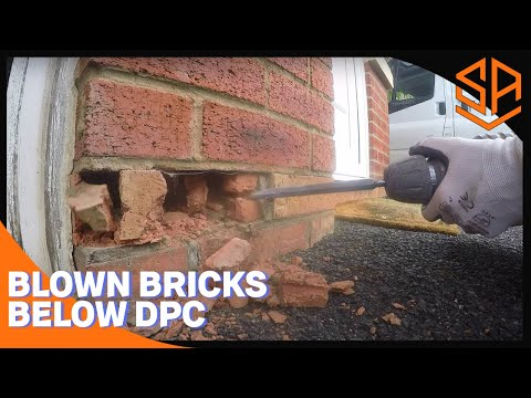 BRICKLAYING..HOW TOO.... REPLACE BLOWN BRICKS BELOW DPC