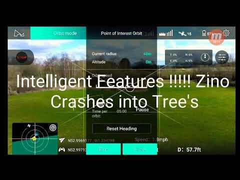 Zino Crashes Doing Intelligent Features Ya Right Hubsan