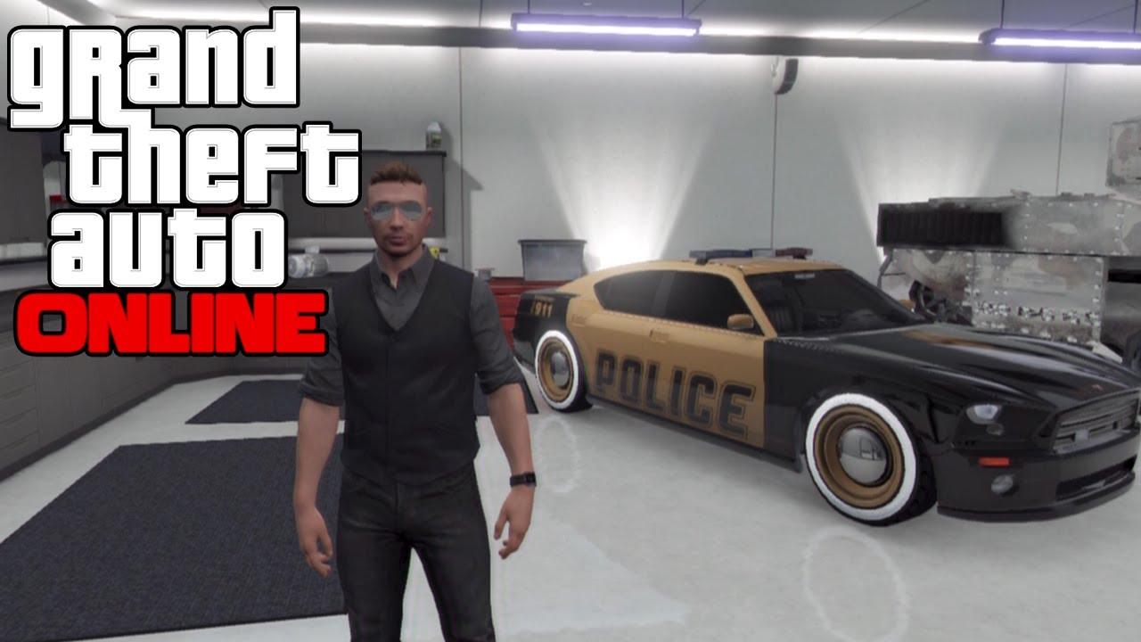 gta 5 online golden police car gold police buffalo car modded cop car gta v multiplayer - Gta 5 Police Cars
