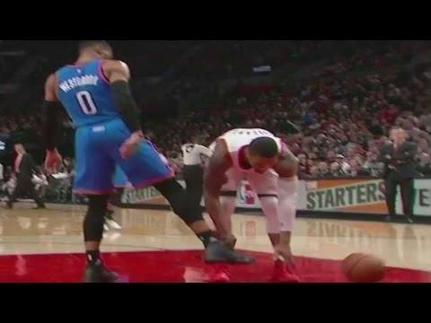 Russell Westbrook DISRESPECTS Damian Lillard, Kicks Ball Out of His Hands