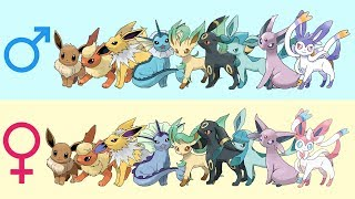 All Eeveelutions Gender Difference Fanart