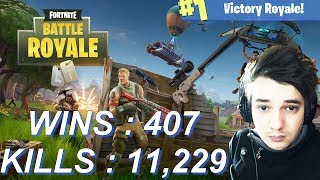 [FR/PC/LIVE] Fortnite en solo 407 wins!